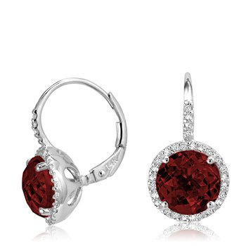 Gemstone and Diamond Drop Earrings