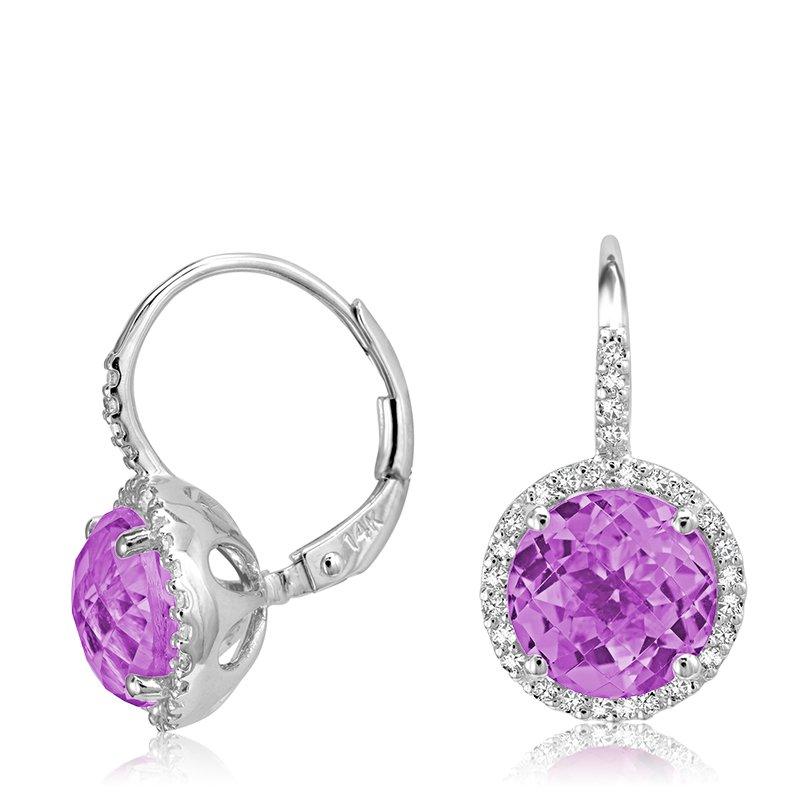 RnB Jewellery Gemstone and Diamond Drop Earrings
