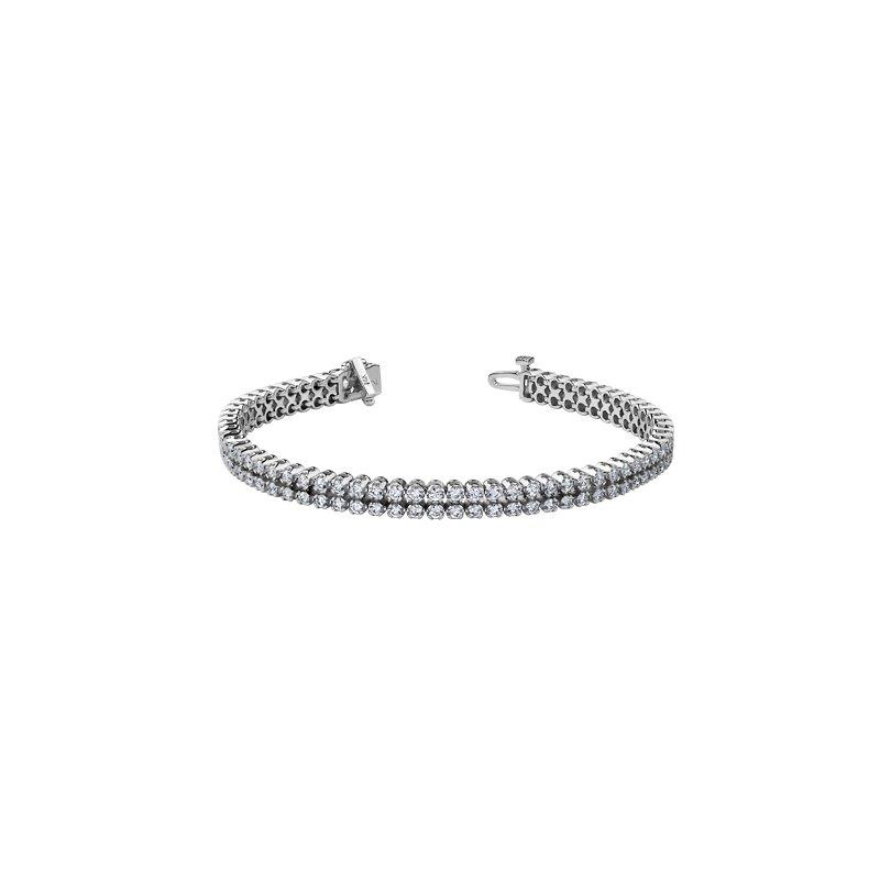 Maple Leaf Diamonds Double Row Diamond Bracelet