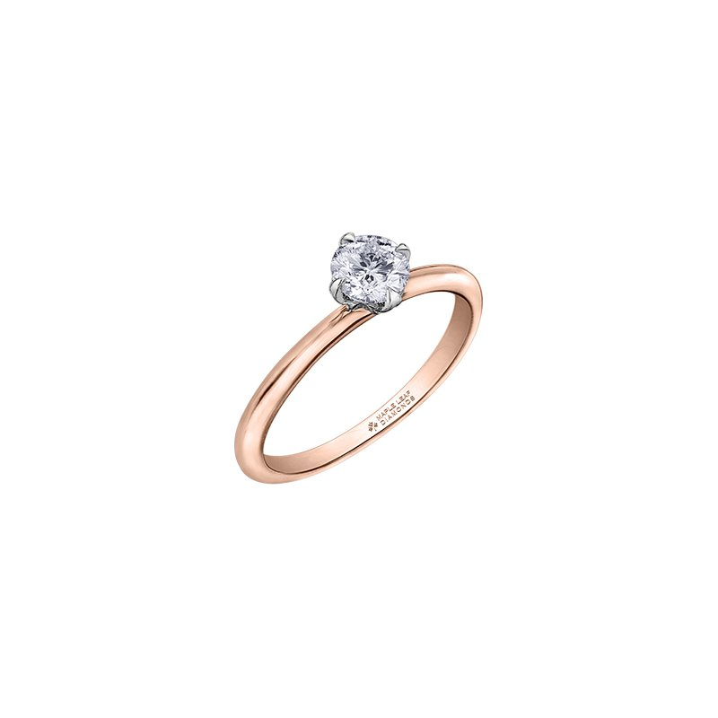 Maple Leaf Diamonds 150 Cut Collection Petite Solitaire Ring
