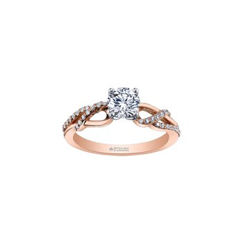 Eternal Flames Wrapped Band Engagement Ring in Rose Gold