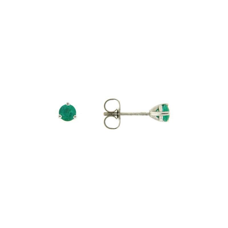 Davidson's Signature 3 Prong Emerald Stud Earrings