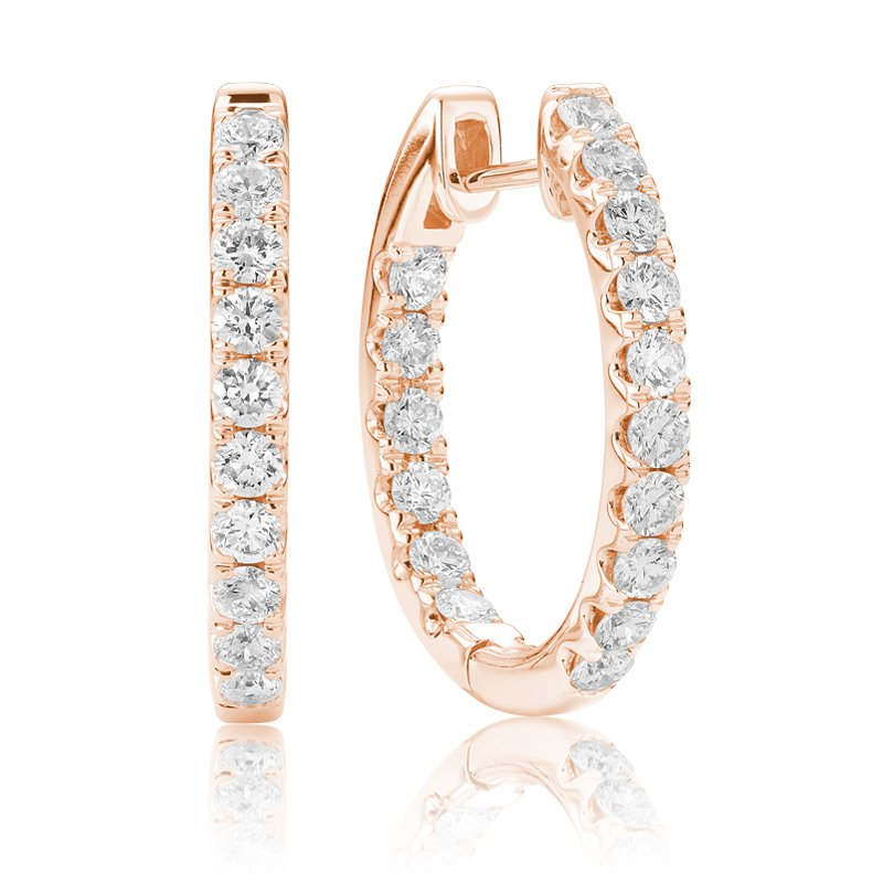 RnB Jewellery In and Out Diamond Hoop Earrings