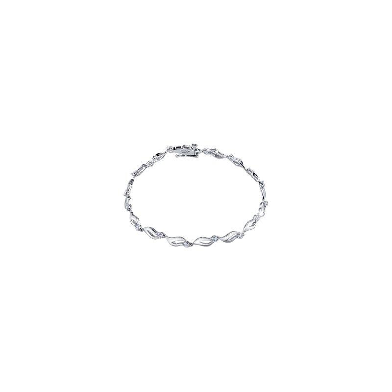 Maple Leaf Diamonds Eternal Flames Bracelet