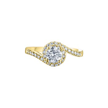 Tides of Love Bypass Engagement Ring in Yellow Gold
