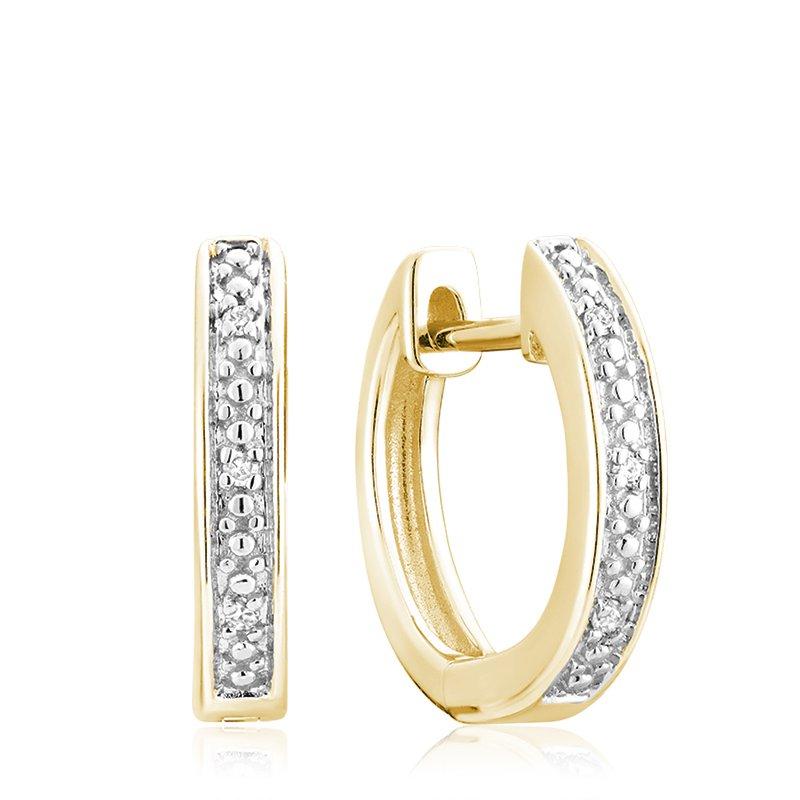 RnB Jewellery Diamond Bead Set Huggie Earrings