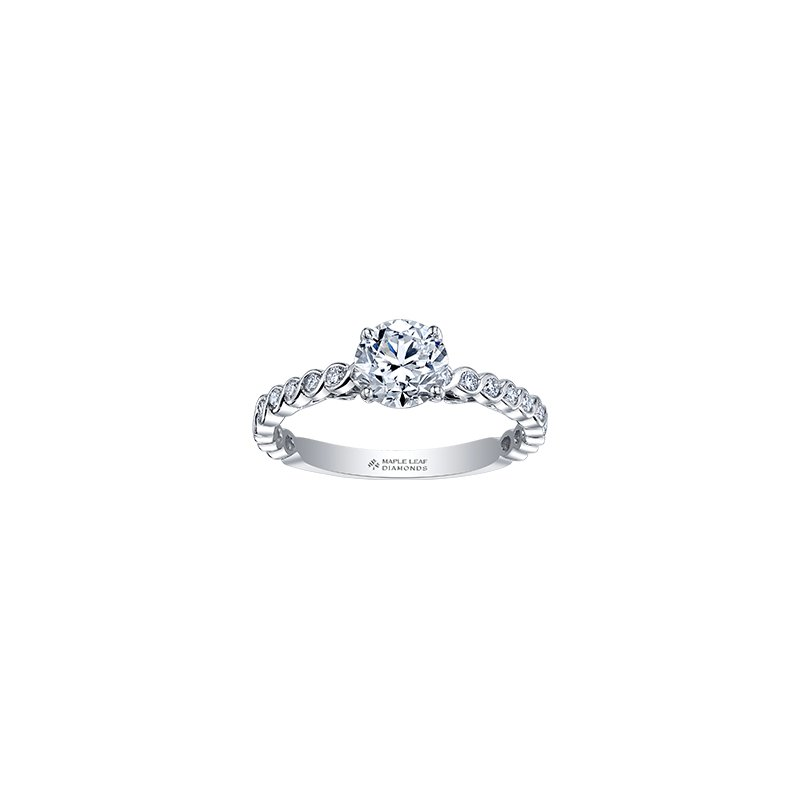 Maple Leaf Diamonds Tides of Love Diamond Band Engagement Ring in White Gold