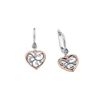 Summer Enchanted Heart Drop Earrings