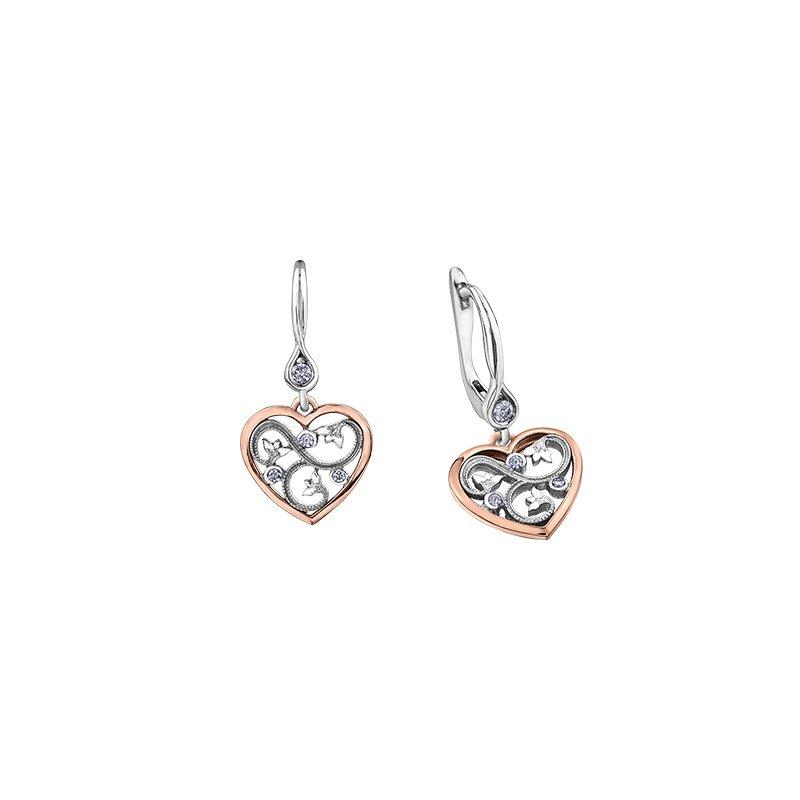 Maple Leaf Diamonds Summer Enchanted Heart Drop Earrings