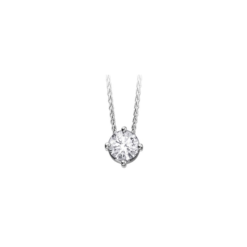 Maple Leaf Diamonds Four Prong Canadian Diamond Pendant