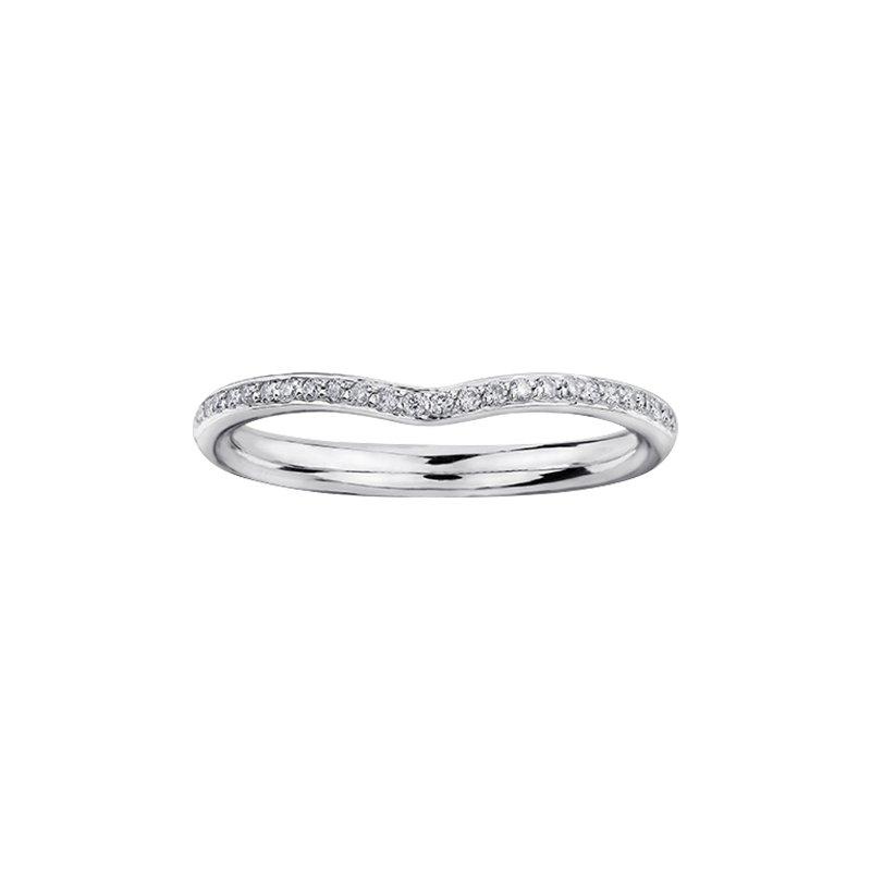 Maple Leaf Diamonds Circle of Love Diamond Set Split Band Engagement Ring