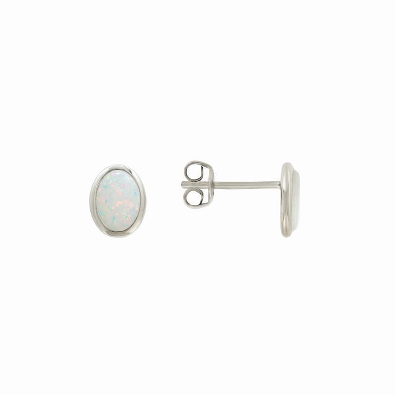 Davidson's Signature Oval Opal Cabochon Earrings