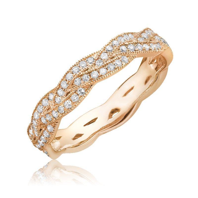 RnB Jewellery Diamond Treasures Braided Ring