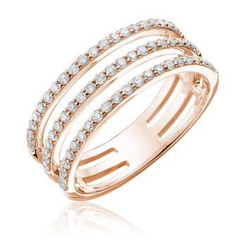 Diamond Triple Ring