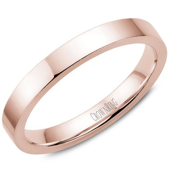 Flat Wedding Band in Rose Gold