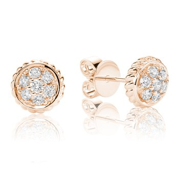 Diamond Treasures Small Round Stud Earrings