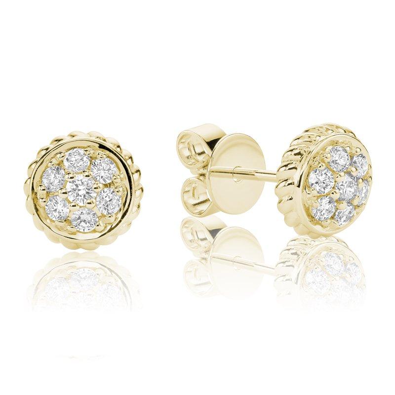 RnB Jewellery Diamond Treasures Small Round Stud Earrings