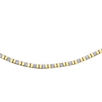 Yellow Gold and Diamond Line Bracelet