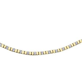 Yellow Gold and Diamond Line Bracelet