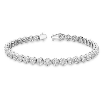 Diamond Clusters Bracelet