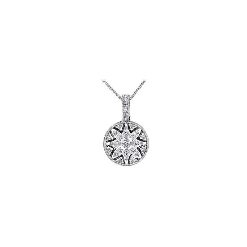 Maple Leaf Diamonds Spring Waterlily Locket