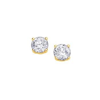 Four Prong Canadian Diamond Stud Earrings