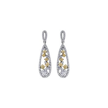 Natural Fancy Yellow Diamond Drop Earrings