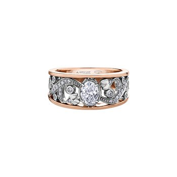 Summer Enchanted Garden Oval Engagement Ring