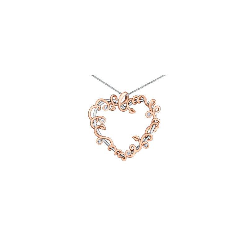 Maple Leaf Diamonds Summer Enchanted Heart Pendant