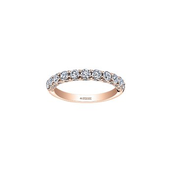 Tides of Love Diamond Band in Rose Gold