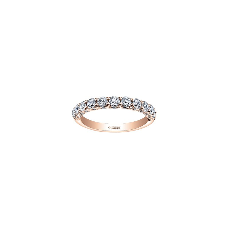 Maple Leaf Diamonds Tides of Love Diamond Band in Rose Gold