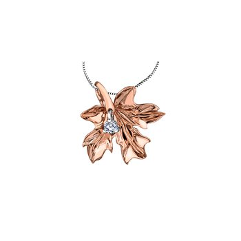 Autumn Red Maple Leaf One-Fifty Cut Pendant