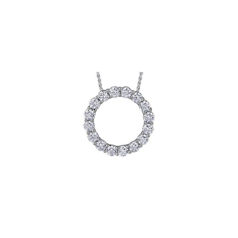Maple Leaf Diamonds Circle of Love Pendant