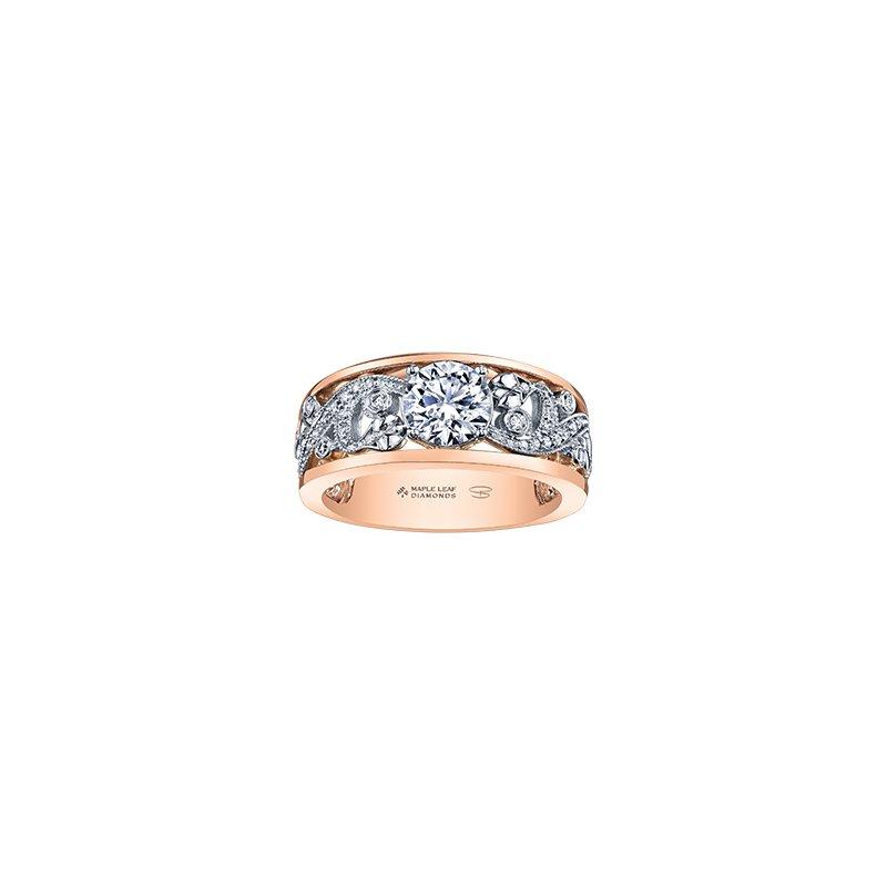 Maple Leaf Diamonds Summer Enchanted Garden Engagement Ring in Rose Gold