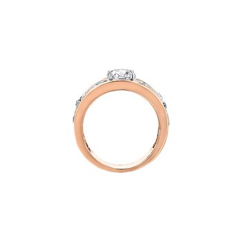 Summer Enchanted Garden Engagement Ring in Rose Gold