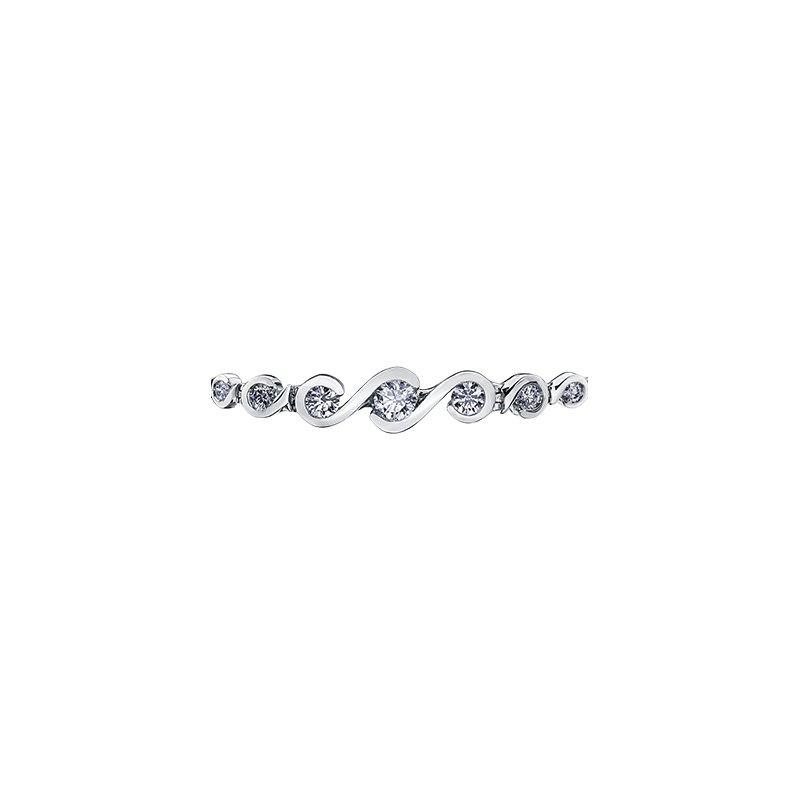 Maple Leaf Diamonds Tides of Love Diamond Bracelet
