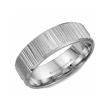 Vertical Cut Wedding Band