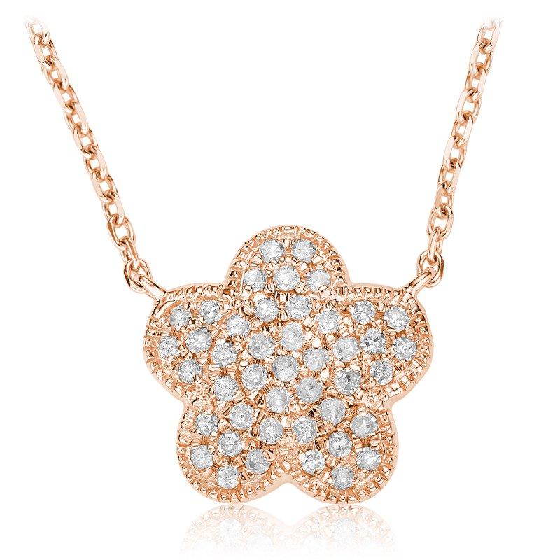 RnB Jewellery Pave Diamond Flower Pendant