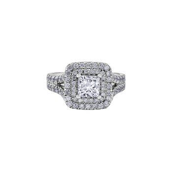 Adoration Princess Halo Engagement Ring