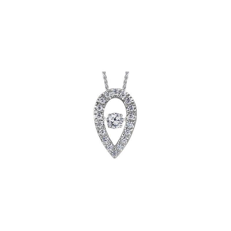 Maple Leaf Diamonds Northern Dancer Teardrop Pendant