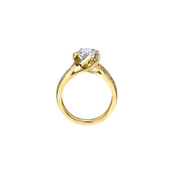 Wind's Embrace Diamond Set Engagement Ring in Yellow Gold