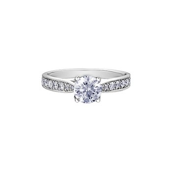 Eternal Flames Tapered Diamond Set Engagement Ring