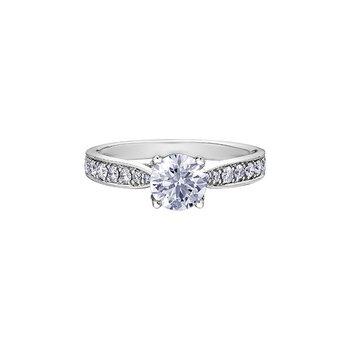 Eternal Flames Tapered Diamond Set Engagement Ring