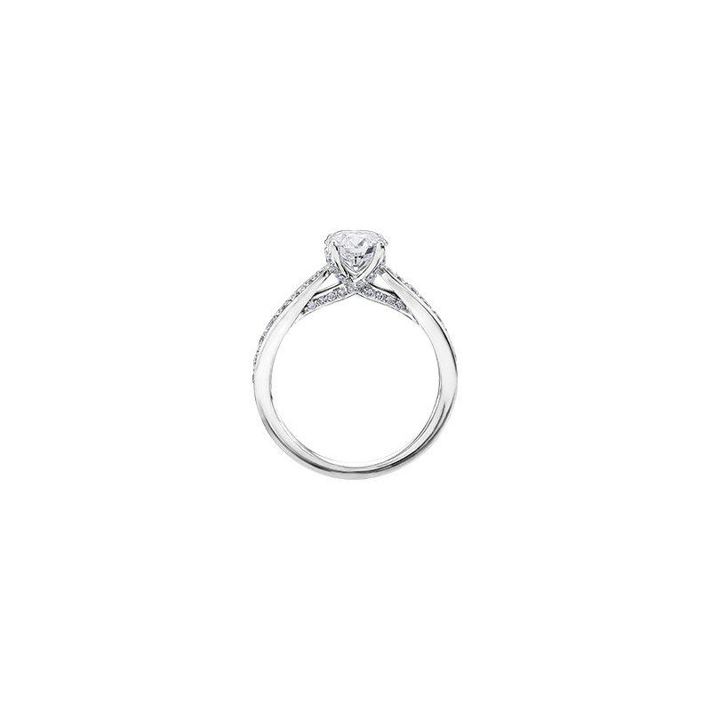 Maple Leaf Diamonds Eternal Flames Tapered Diamond Set Engagement Ring