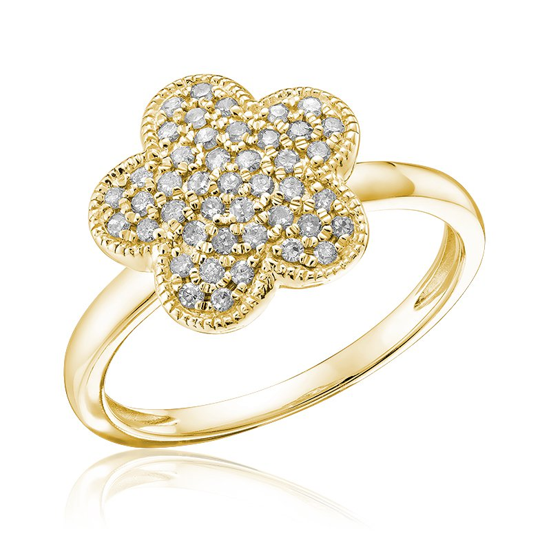 RnB Jewellery Pave Diamond Flower Ring