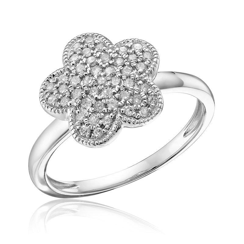 RnB Jewellery Pave Diamond Flower Ring