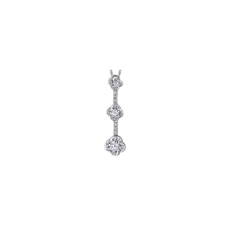 Maple Leaf Diamonds Wind's Embrace Three Tier Pendant