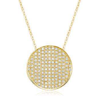 Pave Diamond Circle Pendant