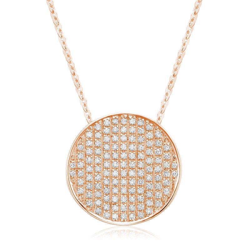 RnB Jewellery Pave Diamond Circle Pendant