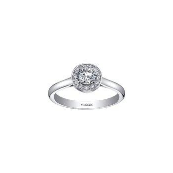 Adoration Simple Halo Ring